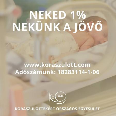 Kérjük, ajánld fel adód 1%-át a KORE javára!