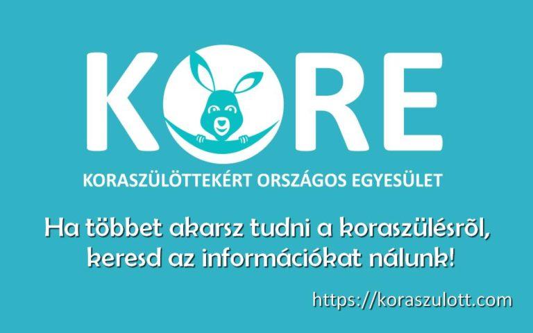 Vidd a hírünket KORE kampány