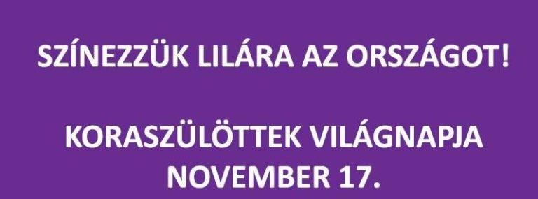 Színezzük lilára – 2018. november 17.