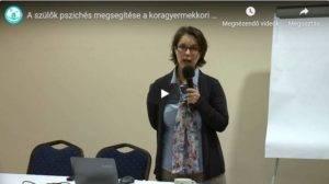 A szülők pszichés megsegítése a koragyermekkori intervenció során – Tóth Anikó előadása