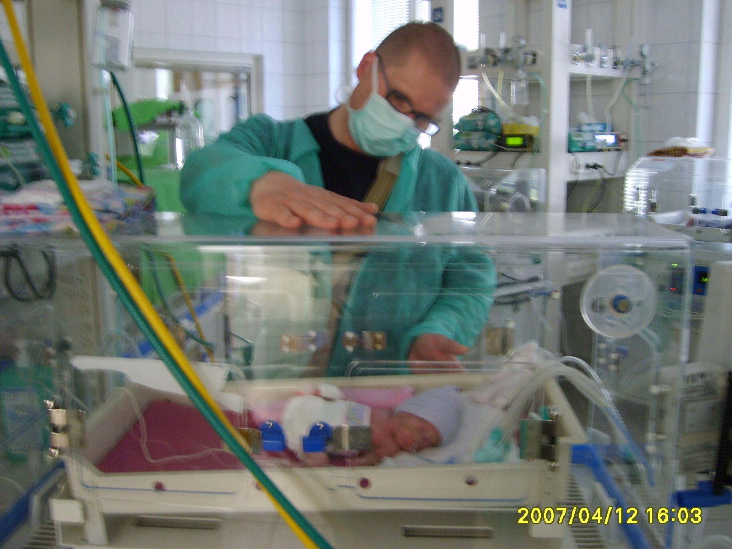 Janka az édesapjával